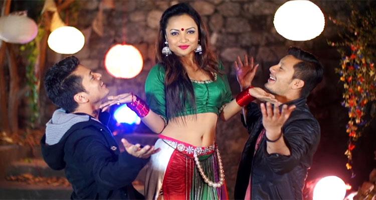 Model Namrata Sapkota, Sanjog Koirala and Nirajan Pradhan
