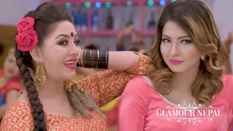 Actress Karishma Manandhar and Samragyee RL Shah