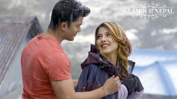 Samragyee RL Shah and Aakash Shrestha | Nepali Movie TIMI SANGA